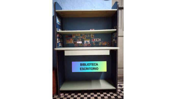 Mueble biblioteca escritorio 2 repisas regulables 1 cajon