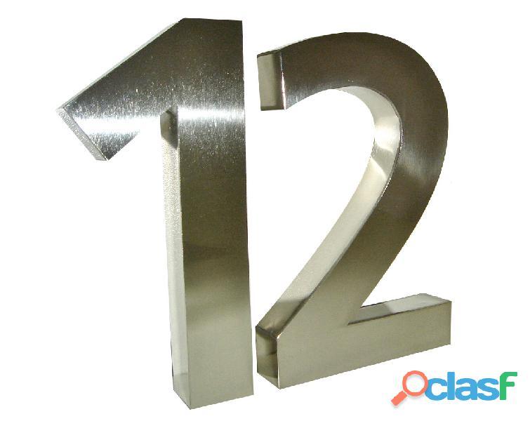 Números y letras de acero inoxidable en Temperley 9