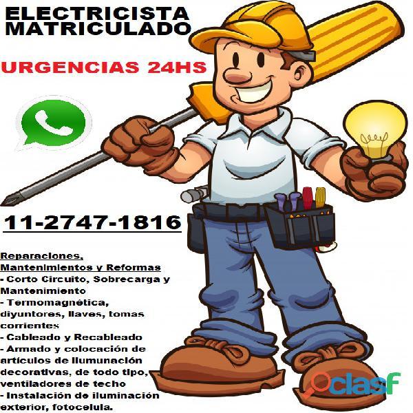 Electricista 24h en belgrano