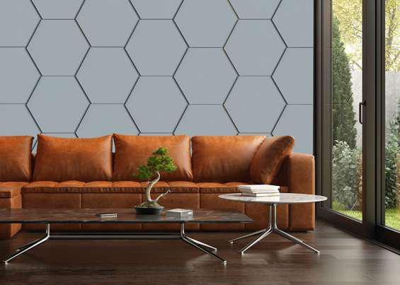 Paneles hexa material fonoabsorvente en floresta