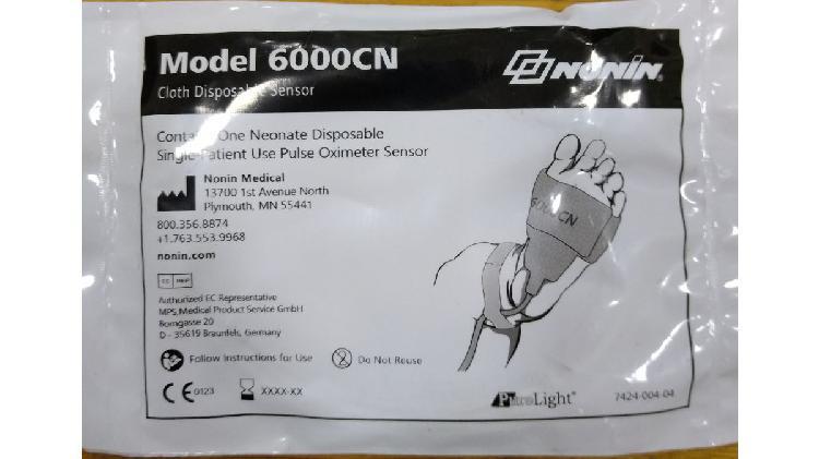 Sensor para oxímetro de pulso marca nonin 6000 cn