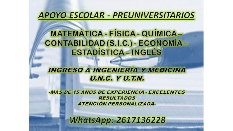 CONSULTAS ESCOLARES/UNIVERSITARIAS