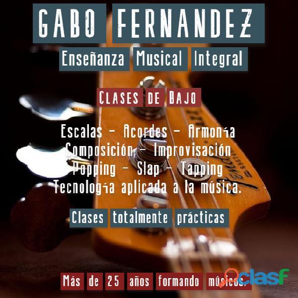 Gabo Fernández   Clases de Bajo en Caballito.