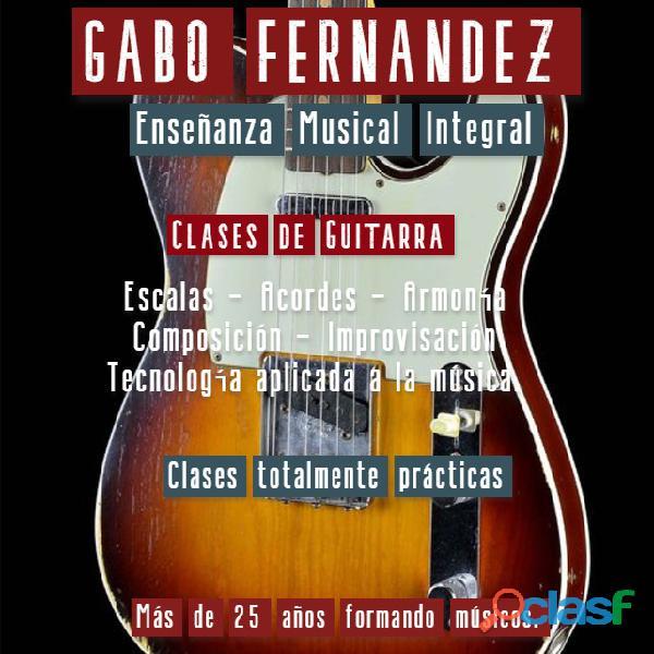Gabo fernández   clases de guitarra en caballito.