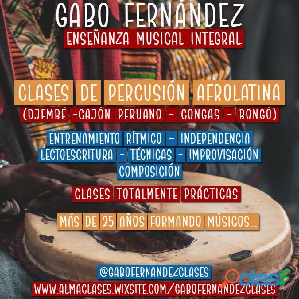 Gabo fernández   clases de percusión afrolatina en caballito.