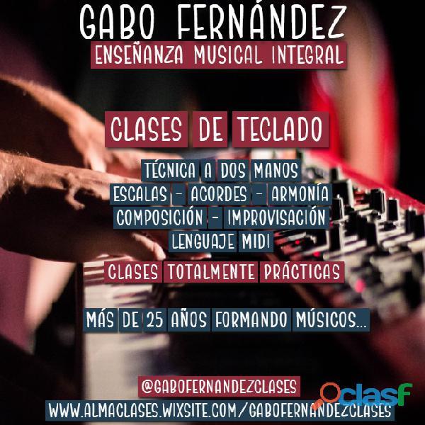 Gabo fernández   clases de teclado en caballito.