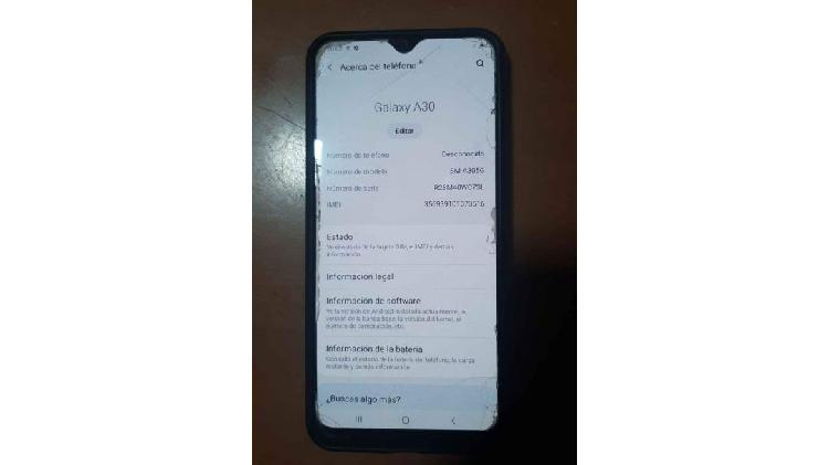 Vendo celular samsung A30 liberado