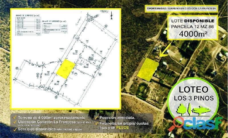 Se vende terreno de 4000 m2 en Comodoro Rivadavia (Chubut)