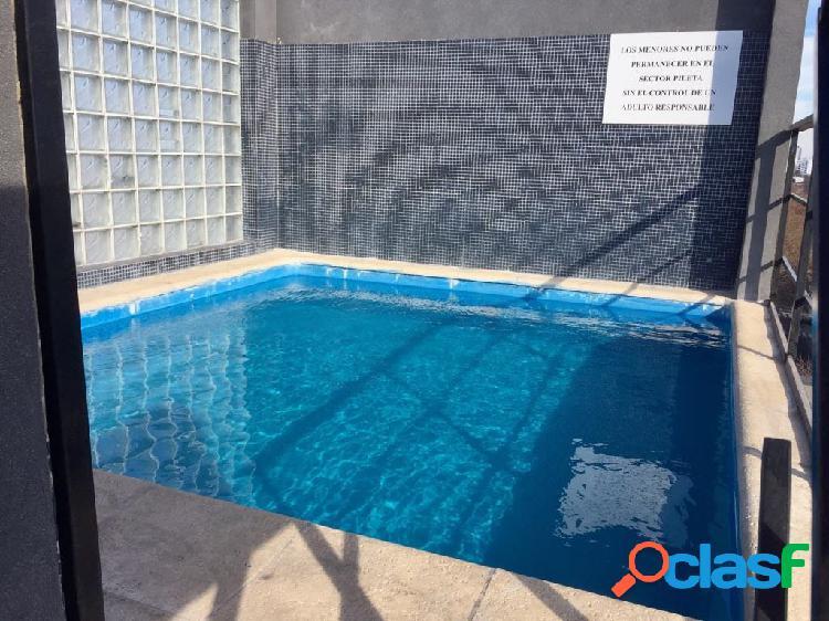 2 amb casi a estrenar palermo piscina parrilla sum seg 24hs. jacuzzi cochera al frente piso alto vista panoramica