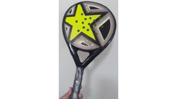 Paleta padel star black 38 mm