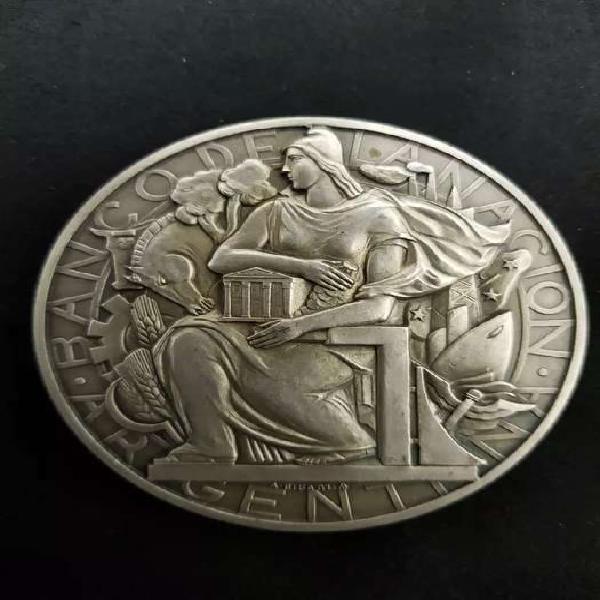 Medalla del banco de la nacion argentina de 1941 del