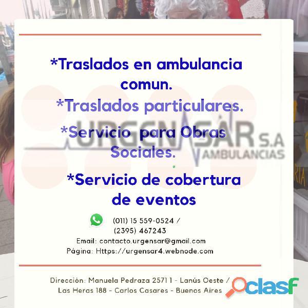 Eventos ambulancias urgensar