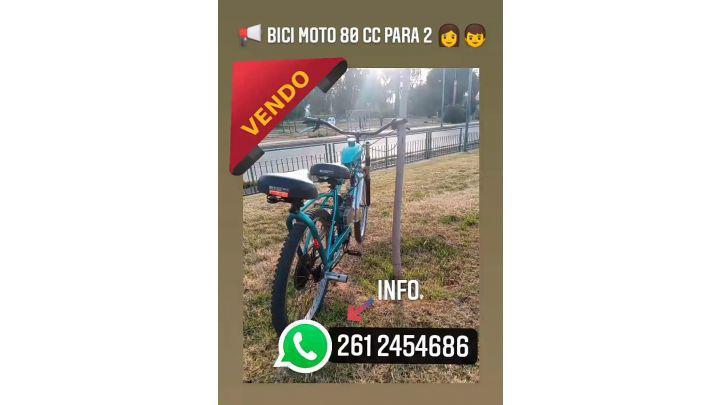 MOTO BICI 80 CC/ EN MUY BUENAS CONDICIONES