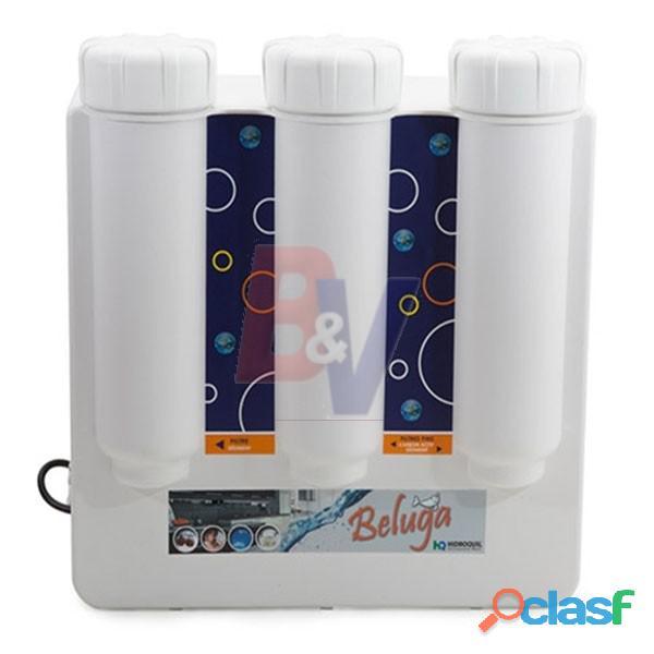 Equipo de osmosis inversa hidroquil. 13 lts. arsénico, metales, fluor. beluga. problemas con el agua