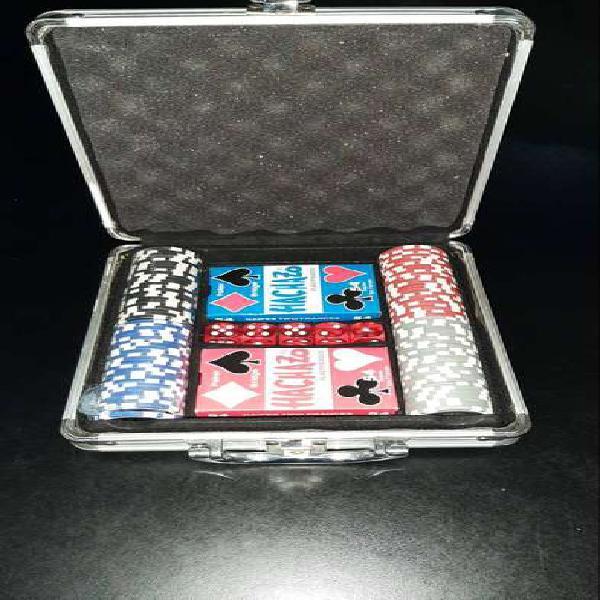 Set Poker Con Valija Aluminio 100 Fichas