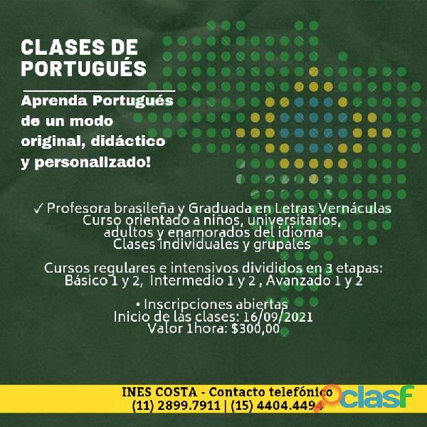Clases de portugués con método único y diferenciado