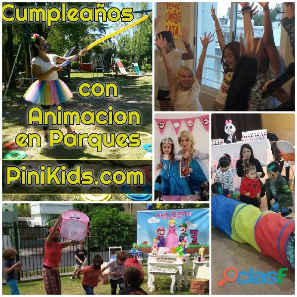 Cumpleaños con animadores de fiestas infantiles