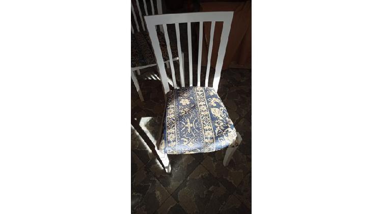 Juego 6 sillas madera