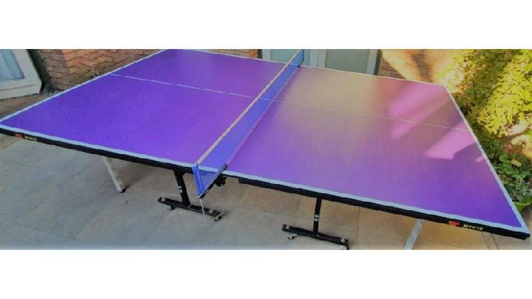 Mesa Ping Pong 15mm Profesional Frontón Plegable Ruedas