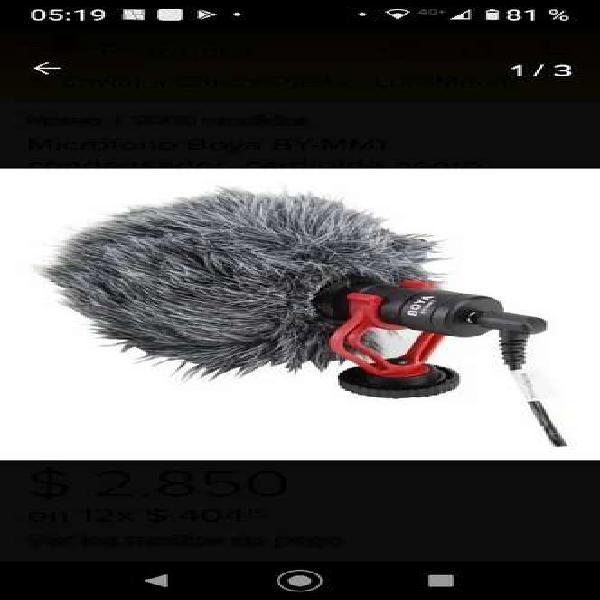 Vendo microfono boya