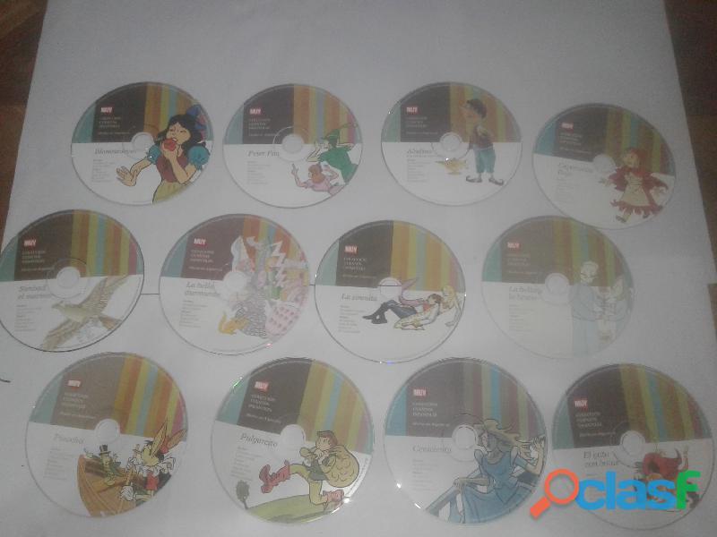 Cuentos infantiles en cd  12 colección de 12 cds  usado en excelente estado