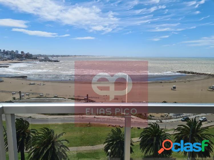 Alquiler temporada de verano 3 ambientes con cochera,vista al mar. zona torreon