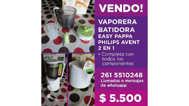 Vaporera batidora easy pappa philips avent 2 en 1