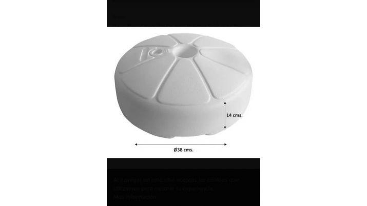 Base plastica para sombrilla redonda circular para rellenar
