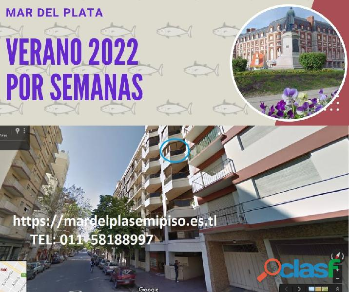 MAR D PLATA Tem 2021 2022 2A Coch,wifi, 5p, pza Colón