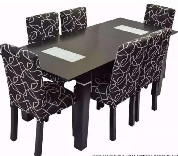 Tablada/lomas mesa laqueada + 6 sillas